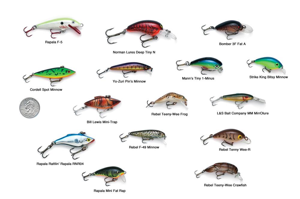 Mighty mini panfish crank baits in fisherman for Bluegill fishing tackle