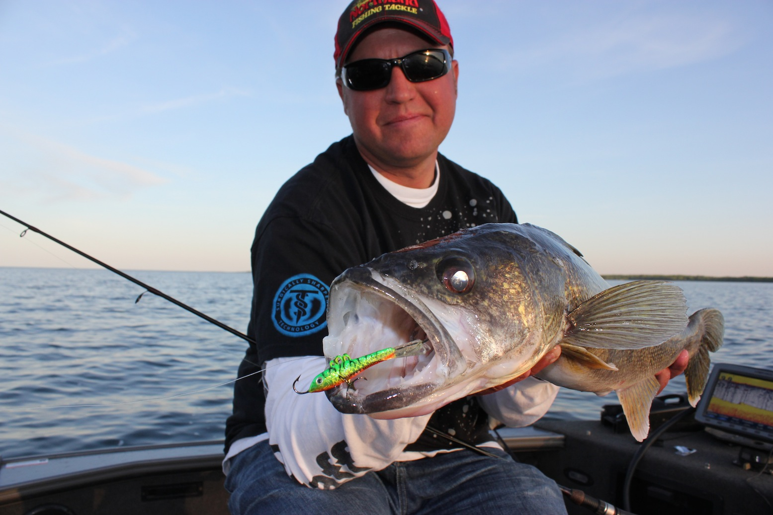 Targeting big ice walleyes in fisherman for Walleye fishing jigs