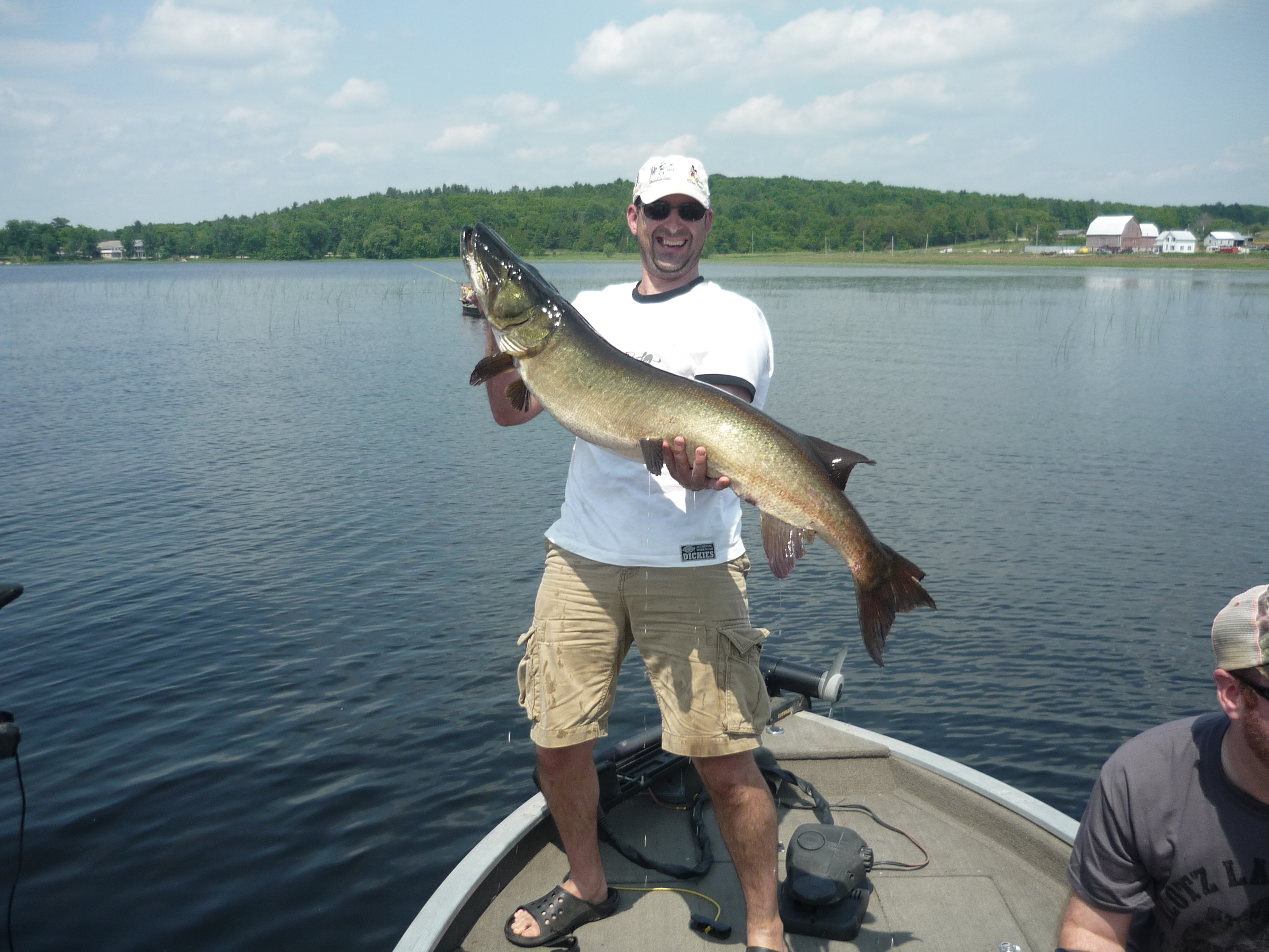 Rick Brummell Plainfield Ontario  I went muskie fishing with 5 friends and caught this beautiful