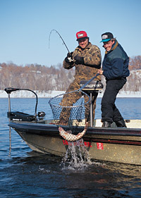 Midwinter is a time of rest in most environments. In the North Country--walleye country--lakes and
