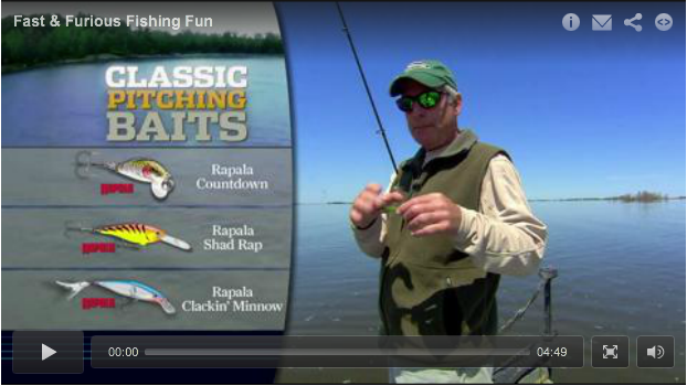 In-Fisherman's thirty-year veteran Doug Stange uses the Rapala Clackin' Minnow to pitch for