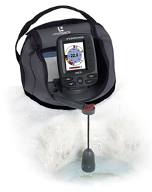 Lowrance flasher depth finder for Best ice fishing flasher