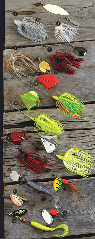 When the subject turns to smallmouth, smallmouth bass blades pop up. Spinnerbaits, buzzbaits, and