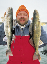 It gets pretty doggone icy and cold in walleye and sauger country during December, January, and