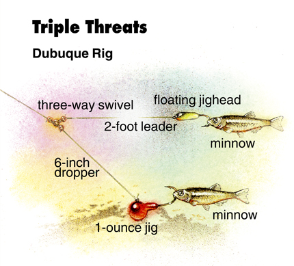 Three way rigging river walleyes in fisherman page 2 for River fishing rigs