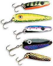 When using spoons for walleyes, most anglers assume the method is vertically fishing heavy jigging