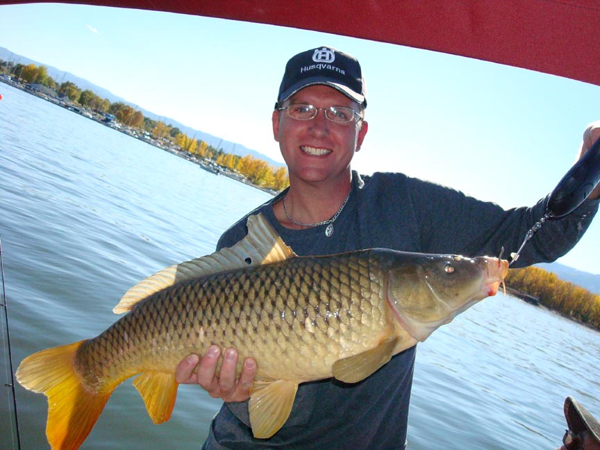 CHRIS WATTIER   ON SUNDAY OCT 14TH 2012, CHRIS WATTIER OF DENVER AT CHATFIELD LAKE WAS TROLLING A