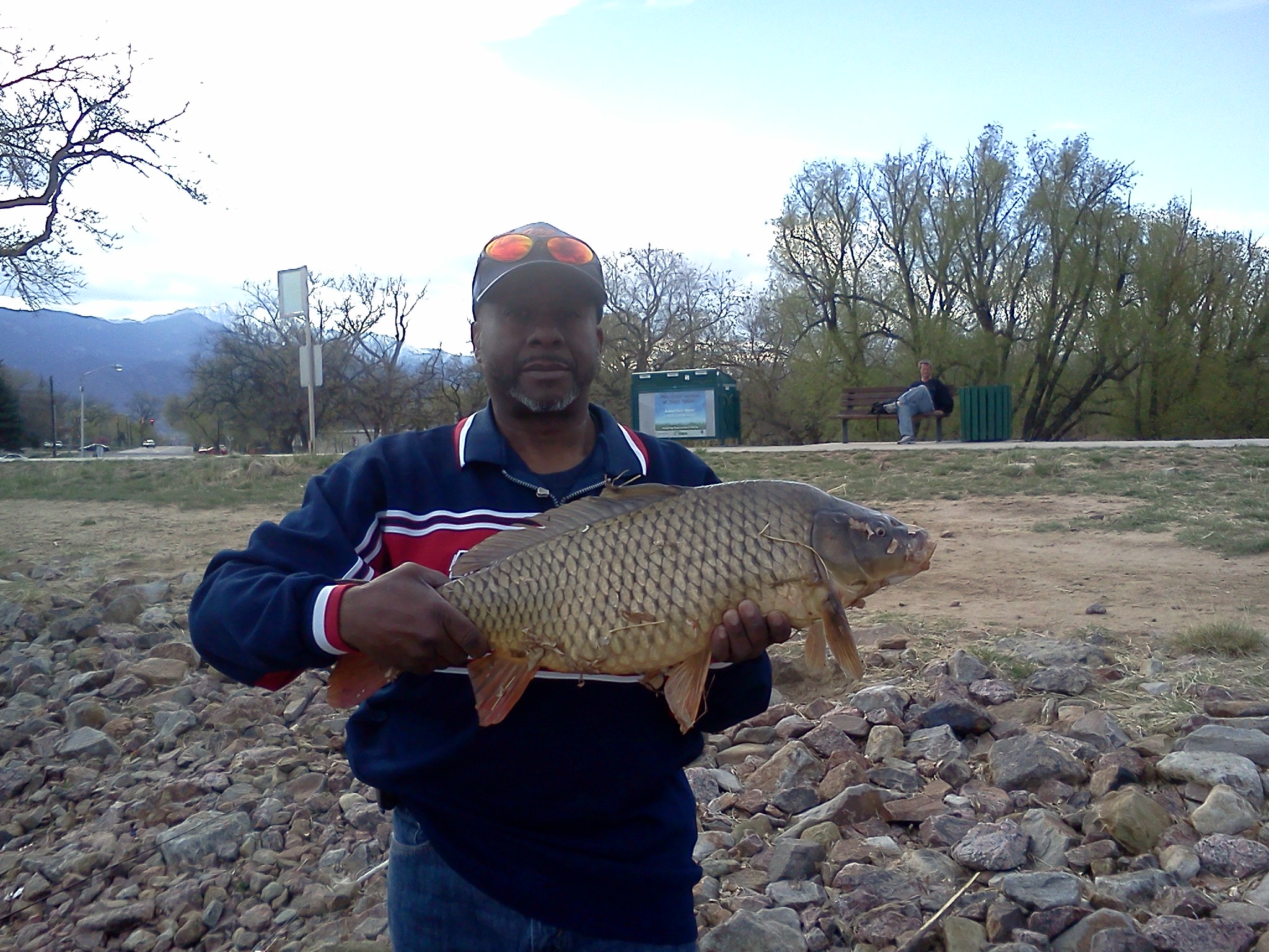 ALAN LEWIS colorado springs colorado  Hooked into this 13lb carp on a wet fly he was 29 inches.
