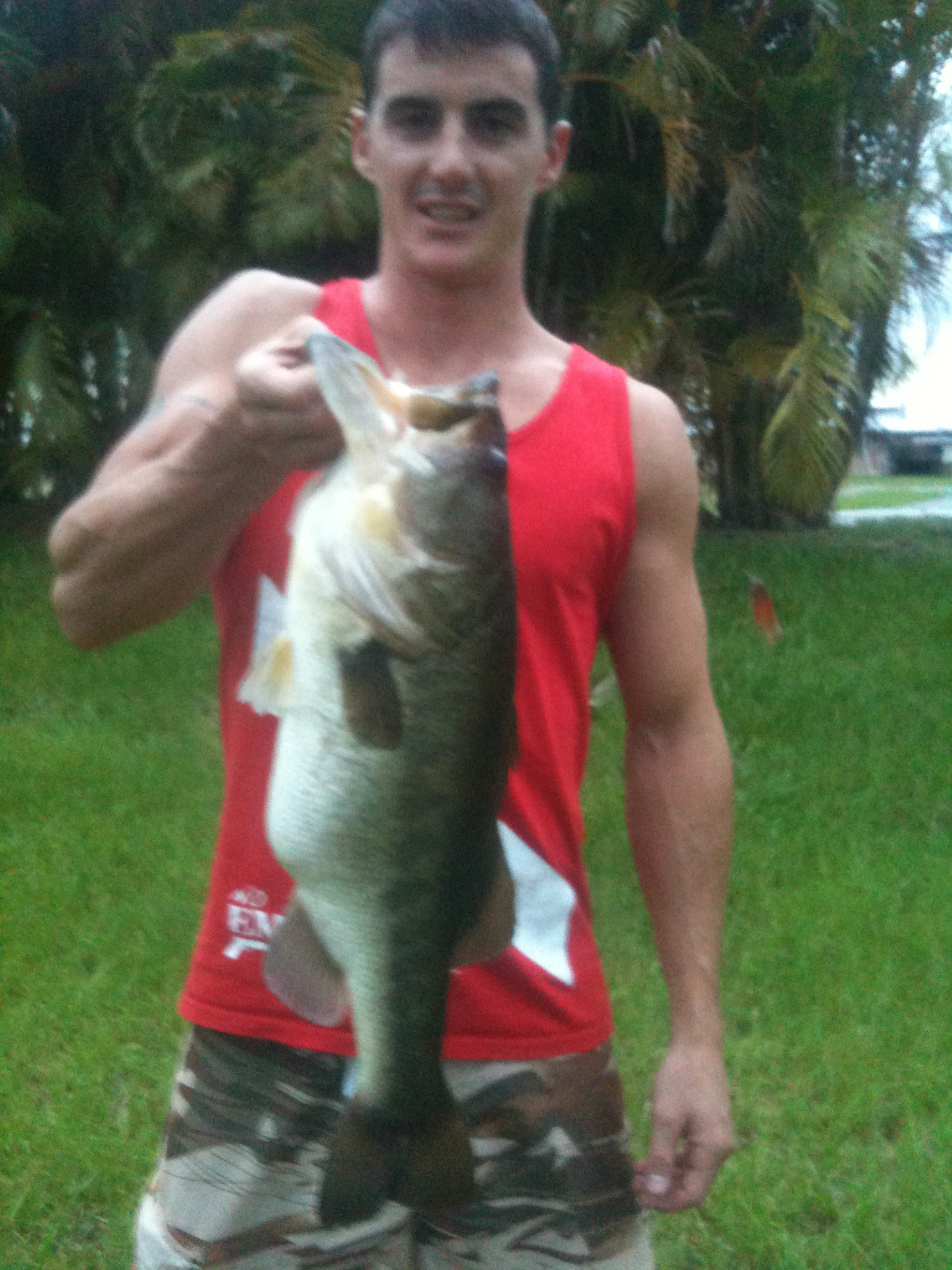 Collin Mccosh Wellington Florida  7.10lb weighed on a rapala digital scale  Species: Largemouth