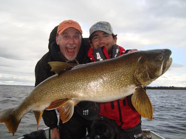 Kurt Benner Tiburon CA  At Scott Lake in Northern Canada with a lure  Species: Lake Trout Date