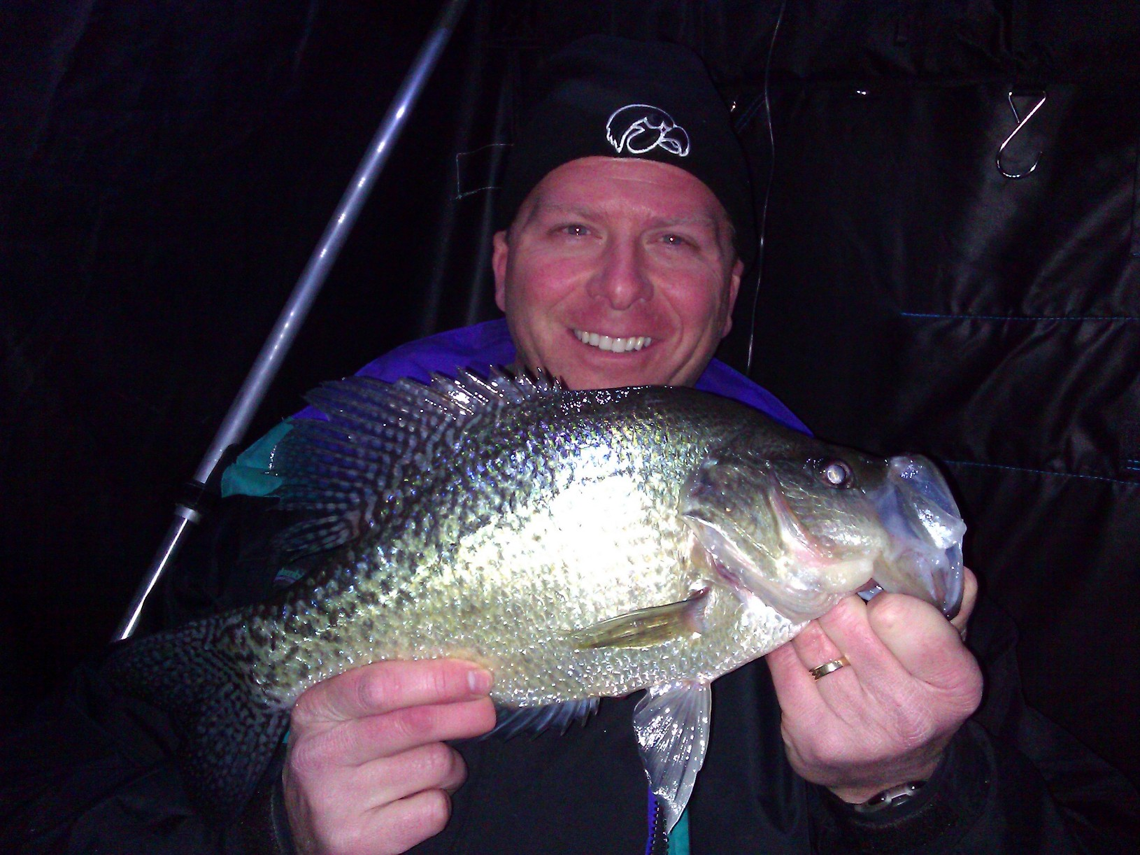 Dave Bruxvoort Urbandale Iowa  This crappie was caught in 20 feet of water off the bottom using