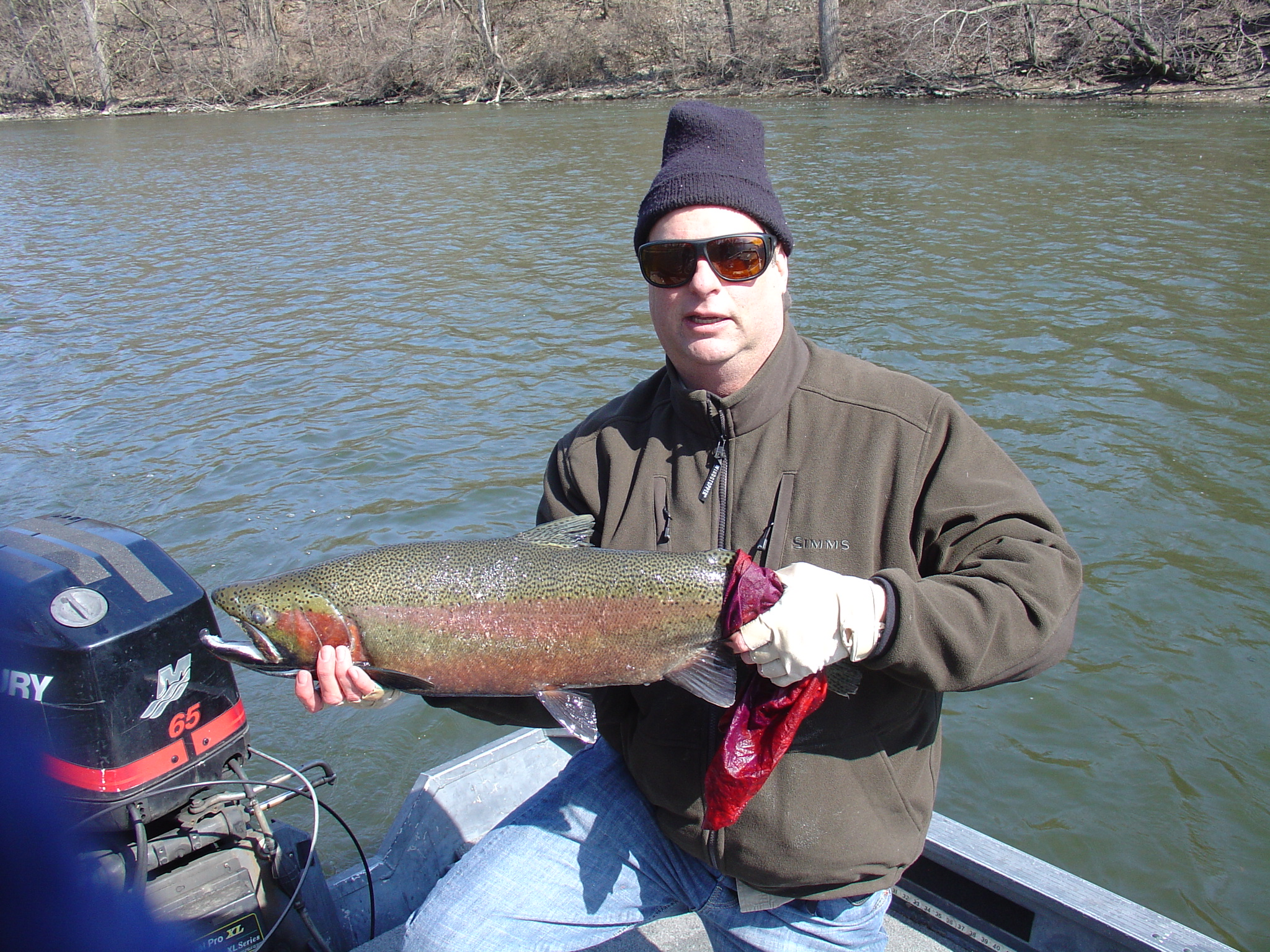Stuart Feinberg West Chicago Il.  Fishing with Ripple Guide Services on the St Joe river 3/30/13