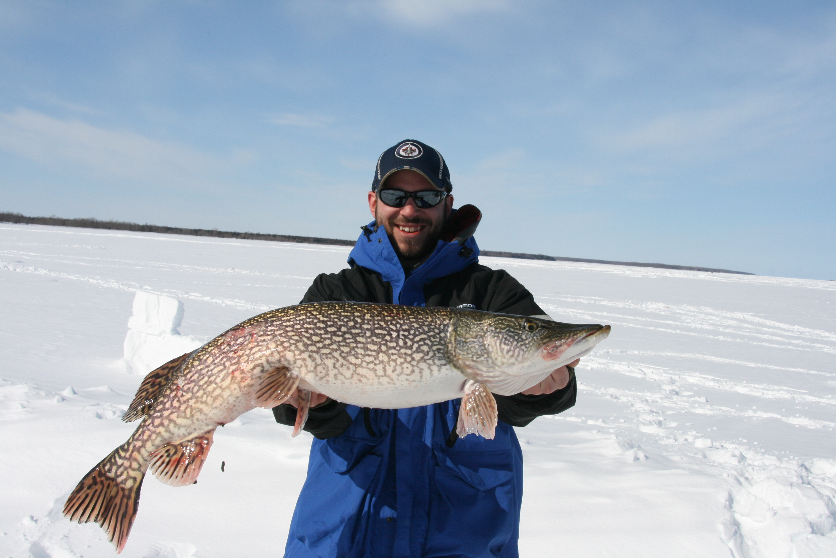 Matt Jauch Bemidji Minnesota  My buddy Landon me come up tip up fishing with him. It was a