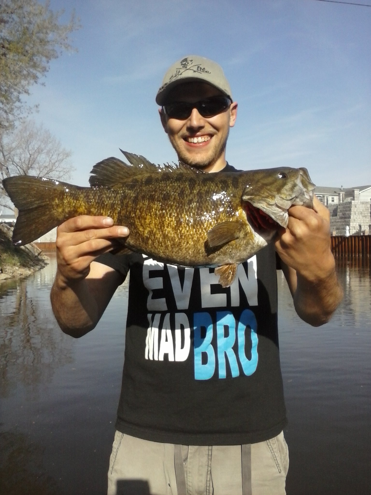 ben clifton flint Michigan  this beast hit my tube jig 6 feet off the boat so hard it scared me.