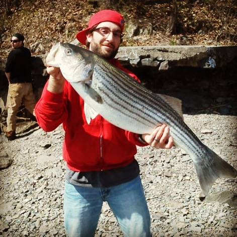 Braigan Barley milton ny  Fishing the Hudson River Saturday in Late April and hooked into this