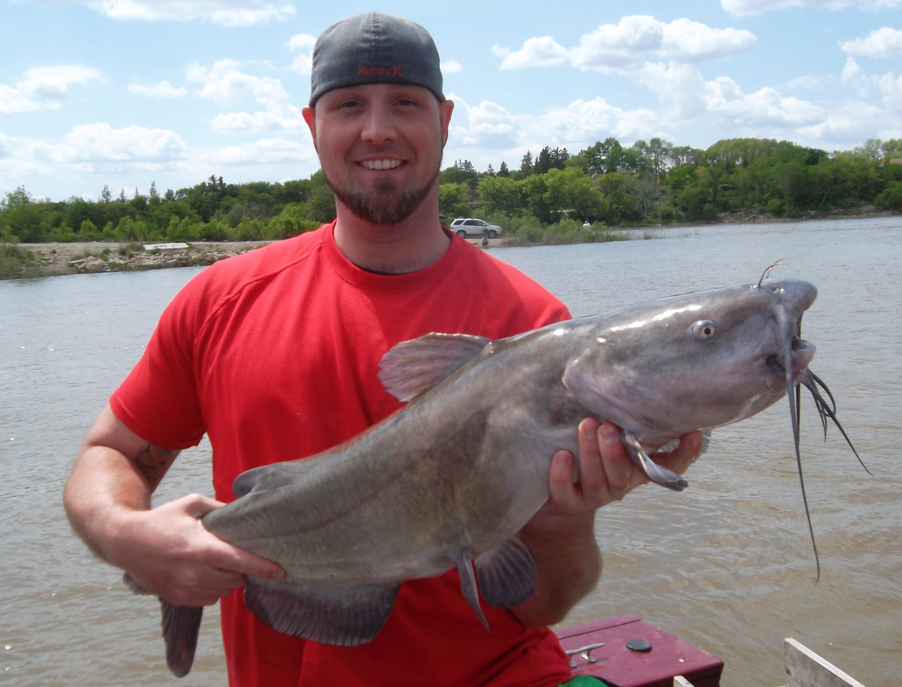 Mike Huffman II Galloway OH  Caught this long, skinny channel cat in Manitoba on a fishing trip
