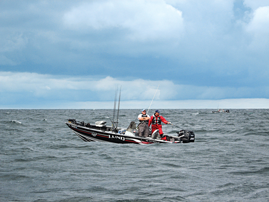 When casting or vertical jigging from a boat, although your boat may be moved slowly by the wind,