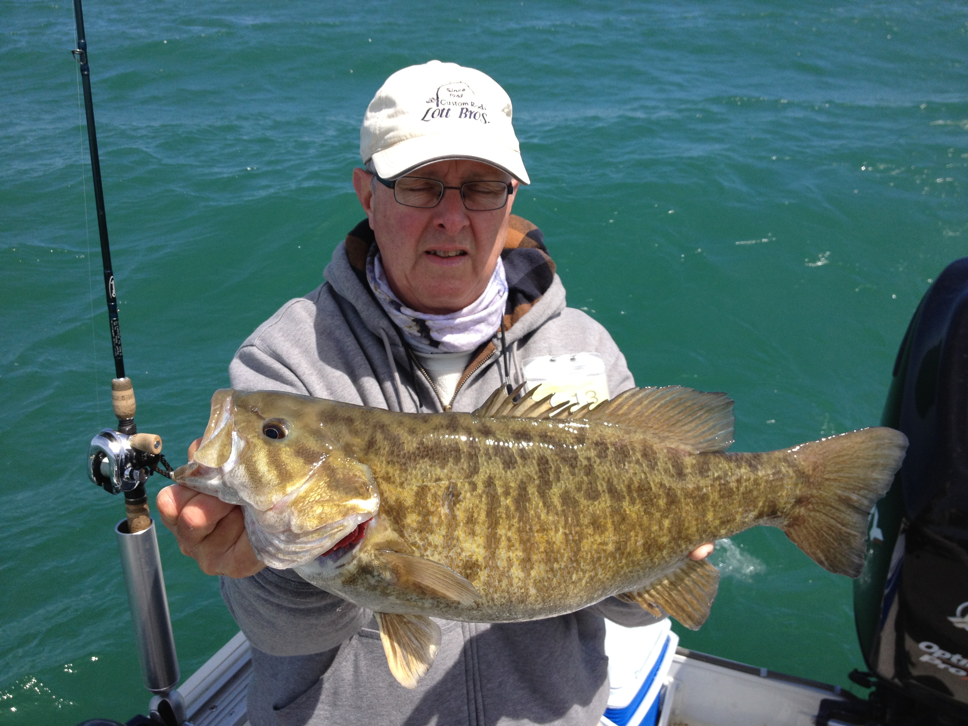Dwight Hottle Erie PA  I caught this smallie while fishing with a friend this spring. We were