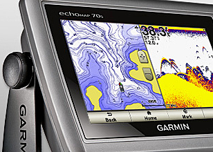 The echoMAP 70s is an chartplotter-fishfinder combo that feature a 7-inch touchscreen display with