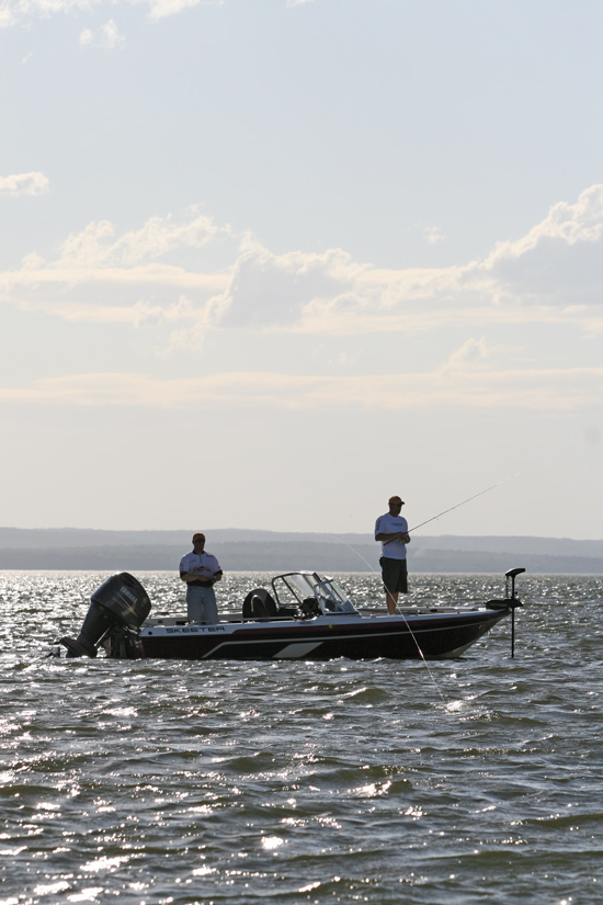 When fishing for smallmouth bass during the dog days of summer, embrace the heat and slide out deeper.