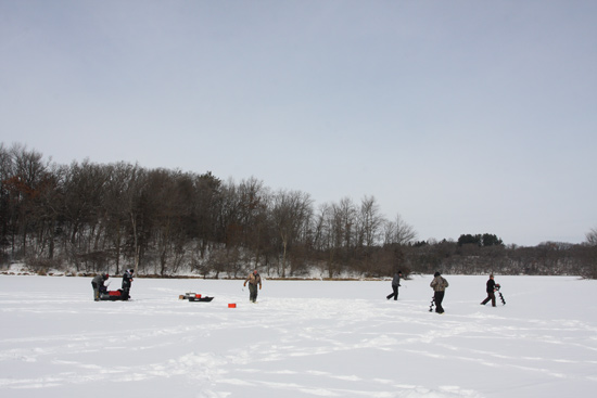 Tortured ice crappies in fisherman for Crappie ice fishing
