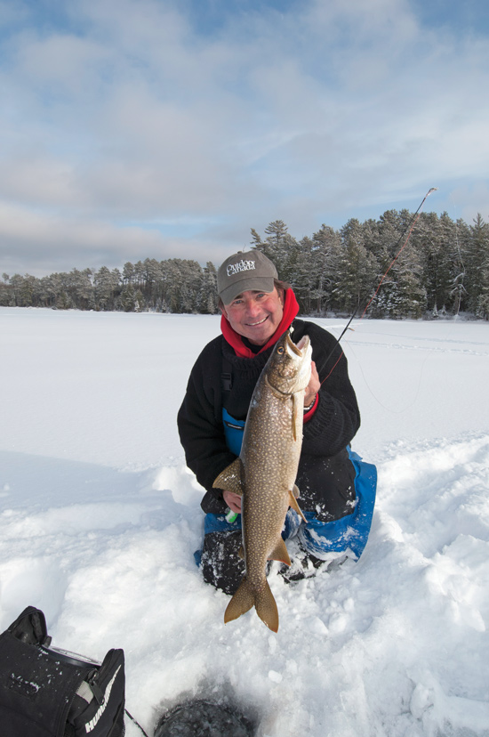The window wide open for lake trout ice fishing in for Ice fishing lake trout