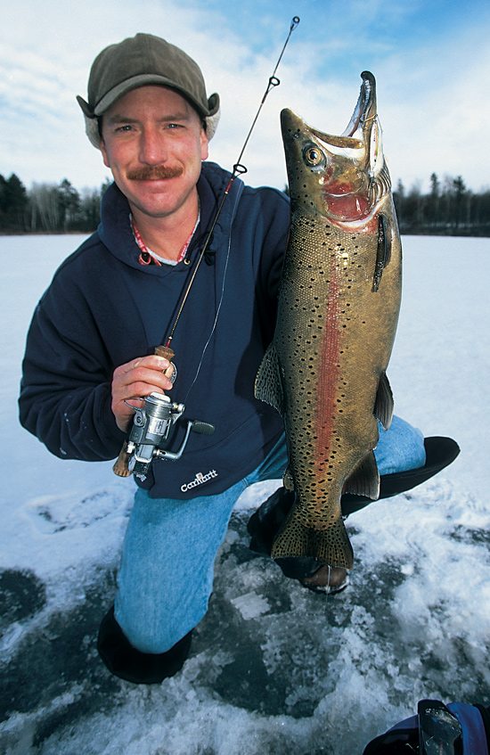 Stocked ice trout once the ceiling freezes in fisherman for Stocked trout fishing