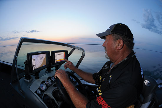 Image result for fishermen using gps device