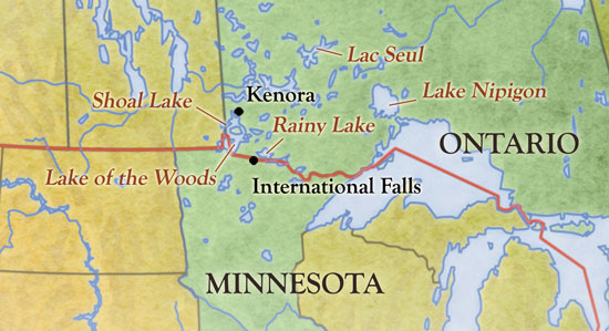 Minnesota Canada Map.Top Picks For Canadian Shield Pike In Fisherman