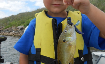 Andrew Cox of San Antonio, Texas, is our four-year-old grandson. On July 2, he went fishing for the