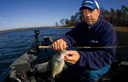 Panfish fiend Scott Glorvigen favors St Croix's Panfish Series rods, coupled with light,