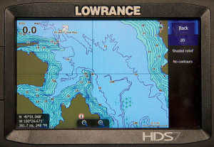 Lowrance HD in regular mode.