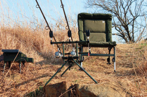 Shore-fishing supreme. Fish in comfort in a Nash Indulgence Low-Line Chair. Complete the setup with an NGT Specimen Rod Pod, bite alarms, and Nash Box Logic Tackle Station. (Product gallery at end of article)