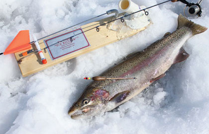 Guide Chris Beeksma finds rivermouths are key to the location of Lake Superior's steelhead.  Snow