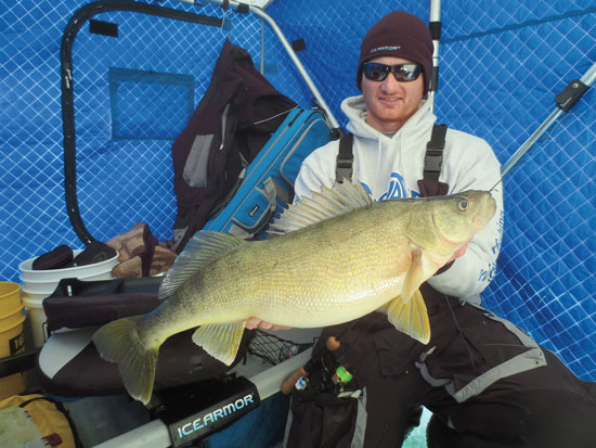 Targeting big ice walleyes in fisherman for Lake erie ice fishing