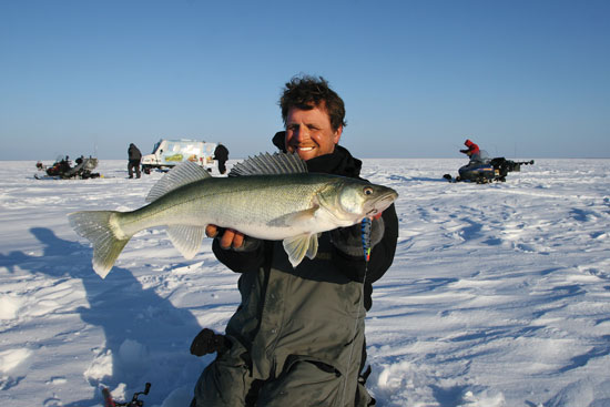 Targeting big ice walleyes in fisherman for Ice fishing walleye videos