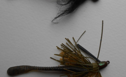 Using hair jigs in winter for largemouth bass in and around the state of Kansas.