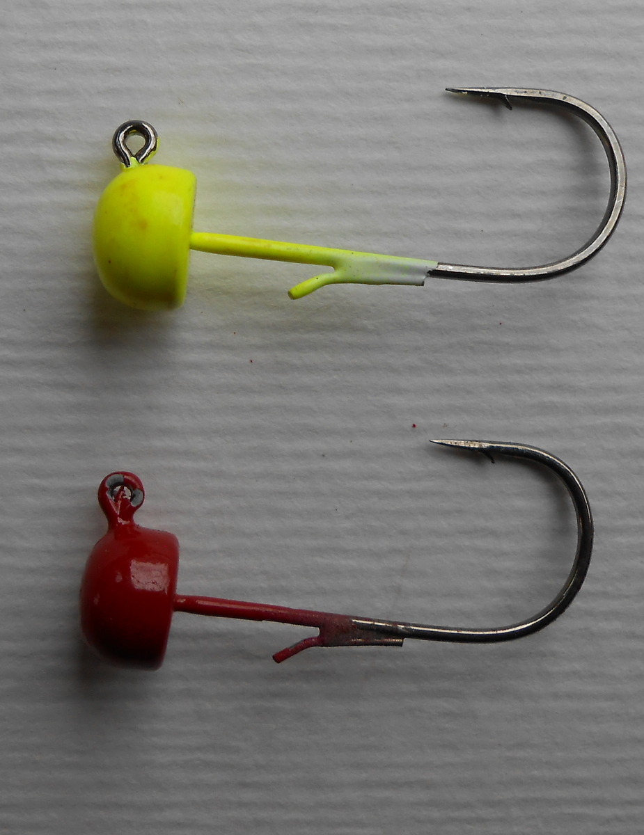 A short history of chartreuse and red midwest finesse jigs for Z man fishing products