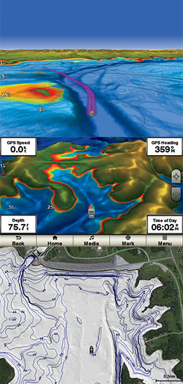 Garmin S Lakevue Ultra Maps Offer Amazing Underwater Perspectives Such As 3d Relief Shading Alongside 1