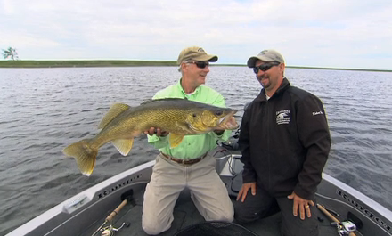 Doug Stange shows how well swimbaits can sometimes work on walleyes.