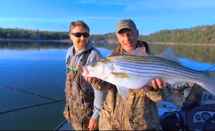 Livebait tactics often prevail for catching stripers.