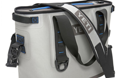 The Yeti Hopper is described as the first 100-percent leak-proof travel cooler. It features a