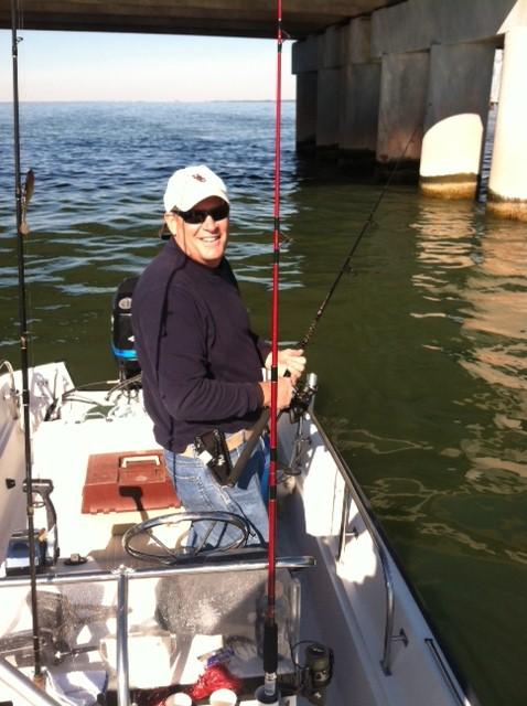 Rockfish in fisherman for James river fishing