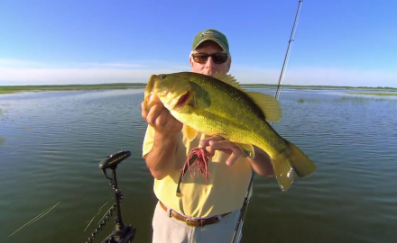 The In-Fisherman staff highlights seasonal tactical secrets, as they  swim jigs for largemouths.