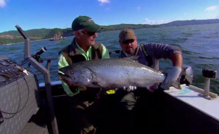 The In-Fisherman staff travels to a world-famous fishery for king salmon at the mouth of the