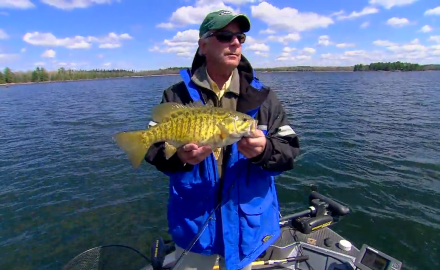 The In-Fisherman staff shows how to get on fish during peaking period cold water for smallmouths.