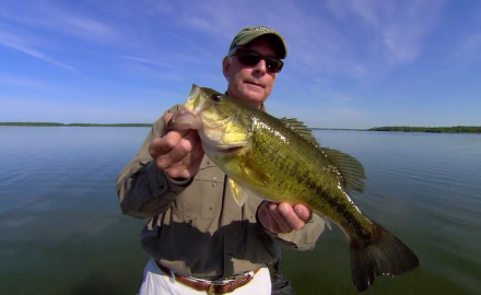 In-Fisherman Editor-In-Chief, Doug Stange demonstrates the use of DT Fat Minus crankbaits for largemouth bass.