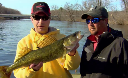 The In-Fisherman staff experiments with tweaking fundamental lures for river walleyes in the spring.