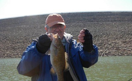 On a bank-walking outing, Brian Waldman of Coatesville, Indiana, caught this smallmouth bass on a
