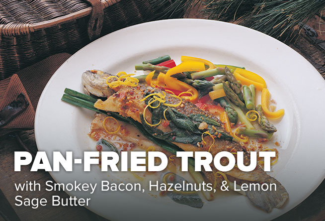 Trout and Lemon Sage Butter Sauce Recipe